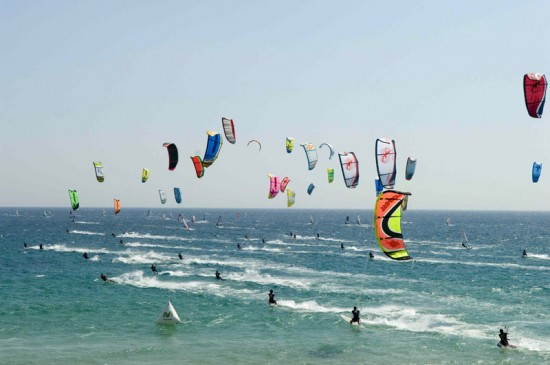 Kite and Wind surfers in Tarifa