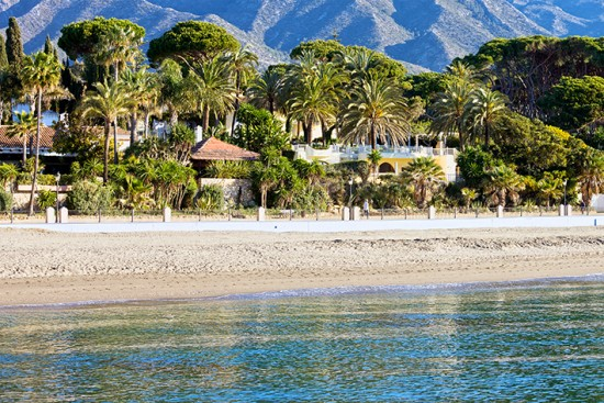 Marbella Golden Mile, beach view