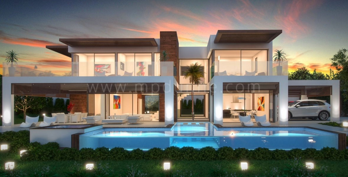 Contemporary marbella homes for Villa de luxe dubai
