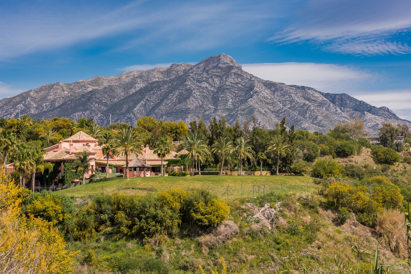 Marbella villa with view