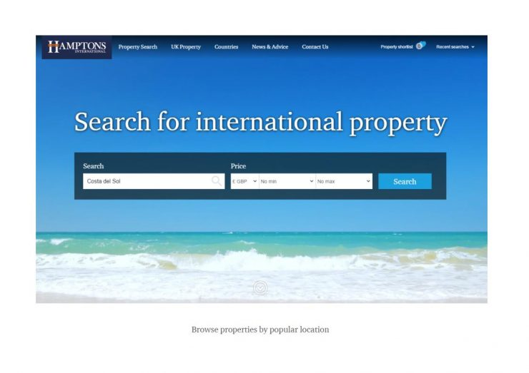 Новый сайт Hamptons International